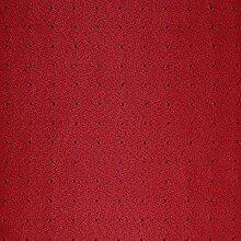 Meine-Tischdecke Damast Stoff Meterware im Punkte Design - Größe und Farbe frei wählbar (Bordeaux 150x350 cm)