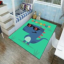 Meinianda Teppich Kinder Grüner Dinosaurier Anime
