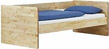 MeinMassivholz Massivholzbett/Holzbett Monza Birke