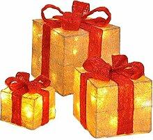 Meinposten 3er Set Geschenke LED Timer beleuchtete