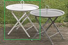 Meinposten Beistelltisch Metall Tisch Couchtisch