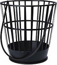 Meinposten. Feuerkorb Ø 40 cm schwarz Stahl