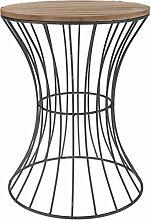 Meinposten. Holz Beistelltisch Metall Deko Tisch