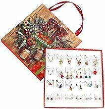 Meipai Weihnachts-Ohrstecker, Ohrringe, baumelnde