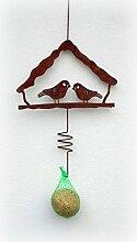 Meisenknödelhalter 'Vogelhaus' aus Metall