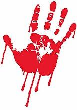 Meisijia Halloween blutige Hand entfernbare
