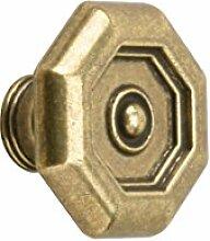 Meister Möbelknopf Ø 33 mm, vermessingt, brüniert, 121201