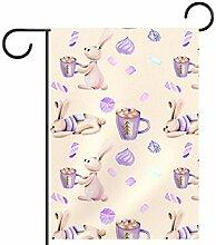 MEITD Fahnenmast für Gartenfahnen und Kaninchen,