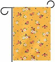MEITD Fahnenmast mit niedlichem Blumenmuster, für