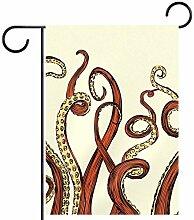 MEITD Fahnenmast mit roten Oktopusfüßen für den