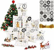 MEIXI 24 Adventskalender zum Befüllen,