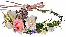 MEIXIA Tuch Kranz Stirnband Blumen Haarband