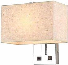 MEIXIAN E27 Moderne Stoff Wandlampe, LED Kreativ