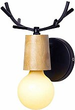 MEIXIAN LED Metall Creativ Wandlampe, E27 Kleine