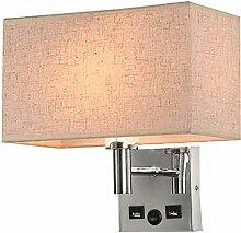 MEIXIAN LED Stoff Wandlampe, E27 Moderne Metal