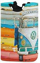 Meiya-Design Großer Wäschekorb Retro Vw Bus