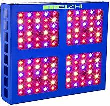 MEIZHI Pflanzenlampe, LED Grow Lampe 600W, Vollspektrum für Zimmerpflanzen Schaltbar Gemüse und Blüte Reflektor Serie