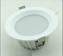 MeiZiWang 26cm Gießen Lampe LED-Deckenleuchte Shopping Mall Projekt Lampe Universalspannung,White-5000K
