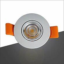 MeiZiWang Lampe 3W Decke Druckguss Drehbare Winkel-Innenbereich COB Deckenstrahler,Coldwhite-6500K