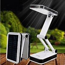 MeiZiWang Solar-LED-Akku-kleinen Klapptischlampe Studentenwohnheim Lampe Schlafzimmer Nacht Lernen