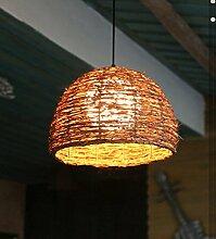 MeiZiWang Ursprüngliche Ökologie Von Rattan Lampe Kreative Restaurant Lichter Kronleuchter Pastoralen Stil Café-Bar Tisch Kronleuchter Bauernhof