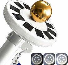Mekar 30 LED Solar Fahnenmast Licht Solar