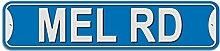 Mel Schild–Kunststoff Wand Tür Street Road Stecker Name, plastik, blau, Road