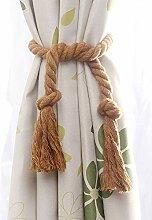 Melaluxe 4 Stück natürliche Baumwolle Vorhang