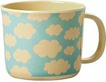 Melamin Bambus Mix Kinder Tasse mit Henkel Wolken