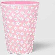 Melamin-Becher mit Blumenmuster, 340 ml, Pink