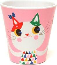 Melamin Becher pink, Katze, Petit Monkey
