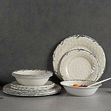 Melamin-Geschirr-Set für 4-12-teiliges
