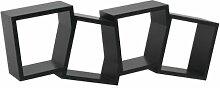 MELANNCO Cockeyed multi-cube Regal (schwarz)
