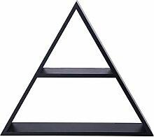 Melannco Tri Cube Regal, schwarz
