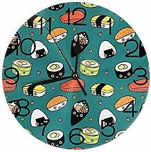 Melinda Perrodin Japan Sushi Food Wanduhr rund Uhr