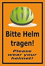 Melis Folienwerkstatt Aufkleber - Bitte Helm