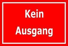 Melis Folienwerkstatt Aufkleber – Kein Ausgang -