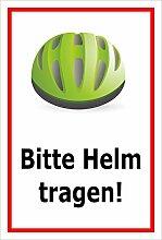 Melis Folienwerkstatt Schild - Bitte Helm tragen -