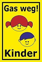 Melis Folienwerkstatt Schild - Gas Weg - Kinder -