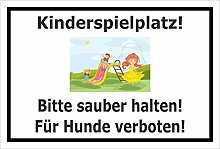 Melis Folienwerkstatt Schild - Kinder-Spielplatz -