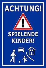 Melis Folienwerkstatt Schild - Spielende Kinder -