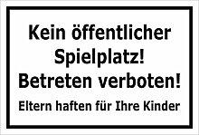 Melis Folienwerkstatt Schild - Spielplatz -