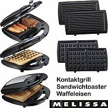 Melissa 16240093 3in1 Kontakt-Grill, Waffel-Eisen