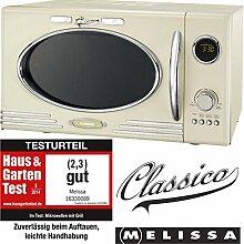 Melissa 16330089 Retro Mikrowelle/900 Watt/25