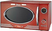 Melissa Classico Mikrowelle Rot Grill im Retro-Design, Grillfunktion, Microwave