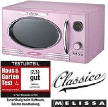 MELISSA Mikrowelle 16330125 rosa im Retro Design