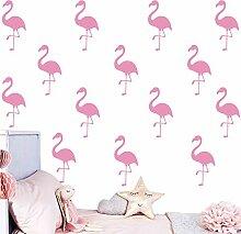 Melissalove 30Stück Flamingo Wand Decor