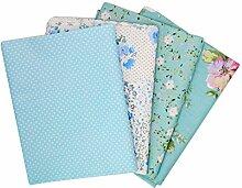 Meliya 50* 50cm Baumwolle Stoff Bündel Squares Patchwork für DIY Nähen Scrapbooking Quilten Dot Blue 2