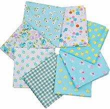 Meliya 50* 50cm Baumwolle Stoff Bündel Squares Patchwork für DIY Nähen Scrapbooking Quilten Dot Blue 1
