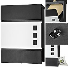 Melko® Design Briefkasten mit Zeitungsfach aus